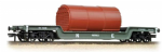 33-879A Bachmann Branchline 45 Ton Bogie Well Wagon LNER Grey With Boiler